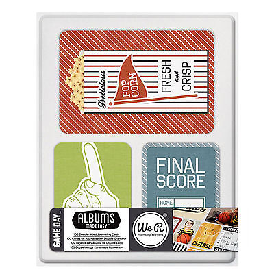 WeRMemoryKeepers GAME DAY (100) Dbl-Sided Pocket Page Cards scrapbooking