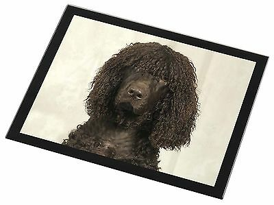 Irish Water Spaniel Dog Black Rim Glass Placemat Animal Table Gift, AD-IWSGP