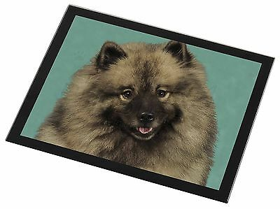 Keeshond Dog Black Rim Glass Placemat Animal Table Gift, AD-KEE1GP