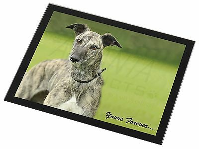 Greyhound Dog 'Yours Forever' Black Rim Glass Placemat Animal Table G, AD-LU7yGP