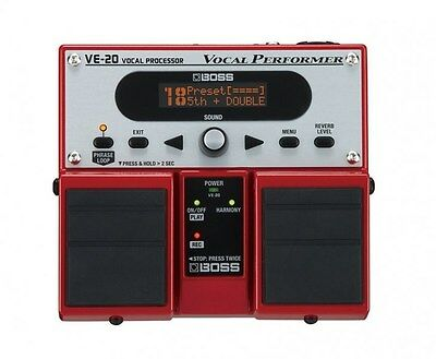 Boss VE20 Vocal Performer Vocal Effects Processor Pedal