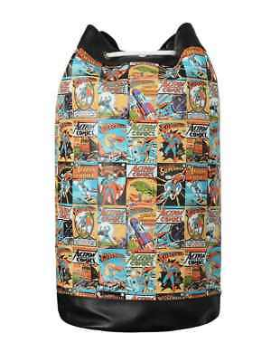 Official Dc Comics Superman Comic Strip Retro Gym Duffle Bag New With Tags