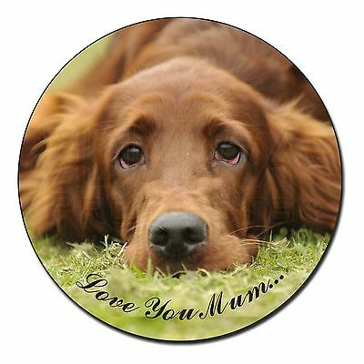 Red Setter Dog 'Love You Mum' Fridge Magnet Stocking Filler Christm, AD-RS2lymFM