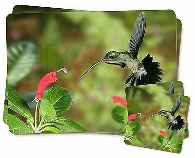 Green Hermit Humming Bird Twin 2x Placemats+2x Coasters Set in Gift Box, AB-95PC