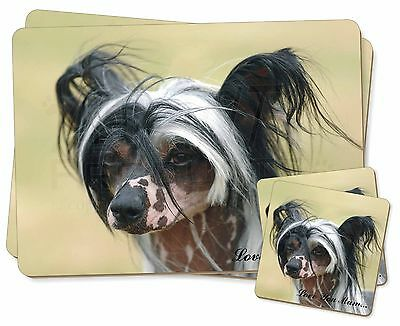 Chinese Crested Dog 'Love You Mum' Twin 2x Placemats+2x Coasters S, AD-CHC2lymPC