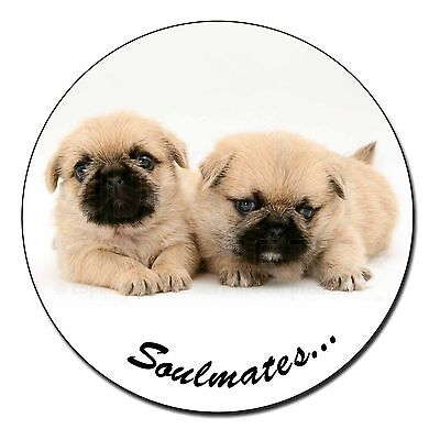 Pugzu Puppy Dogs 'Soulmates' Fridge Magnet Stocking Filler Christmas , SOUL-42FM