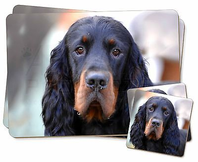 Gordon Setter Dog Twin 2x Placemats+2x Coasters Set in Gift Box, AD-GOR2PC