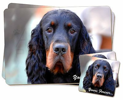 Gordon Setter 'Yours Forever' Twin 2x Placemats+2x Coasters Set in G, AD-GOR2YPC
