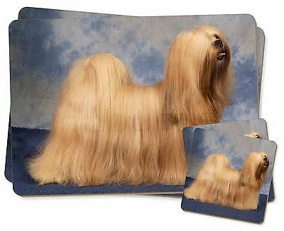 Lhasa Apso Dog Twin 2x Placemats+2x Coasters Set in Gift Box, AD-LA1PC