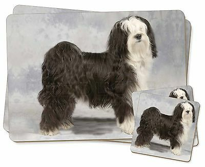 Tibetan Terrier Dog Twin 2x Placemats+2x Coasters Set in Gift Box, AD-TT3PC