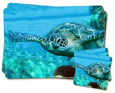 Turtle by Coral Twin 2x Placemats+2x Coasters Set in Gift Box, AF-T20PC