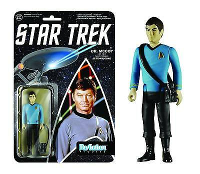 REACTION STAR TREK TOS DOCTOR McCOY FIGURE NEW ON CARD #sjun16-9