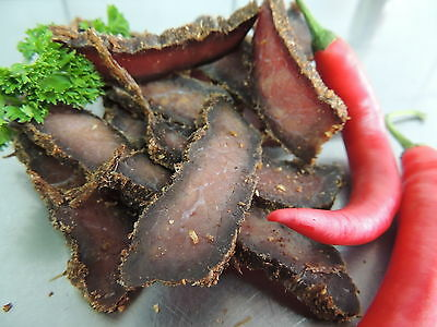 250g Chilly German-Beef-Jerky (Biltong,Steak Bites, Charqui, Pemmikan)