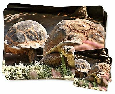 Giant Tortoise Twin 2x Placemats+2x Coasters Set in Gift Box, AR-T15PC