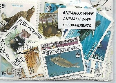 Animaux WWF 100 timbres différents