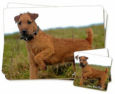 Lakeland Terrier 'Love You Dad' Twin 2x Placemats+2x Coasters Set in G, DAD-73PC