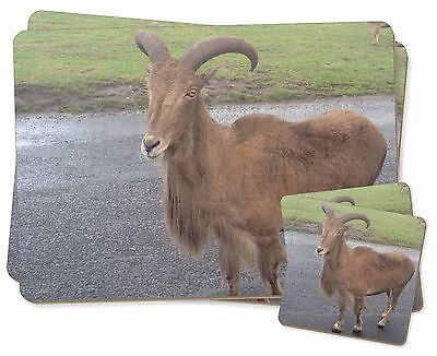 Cute Nanny Goat Twin 2x Placemats+2x Coasters Set in Gift Box, GOAT-1PC