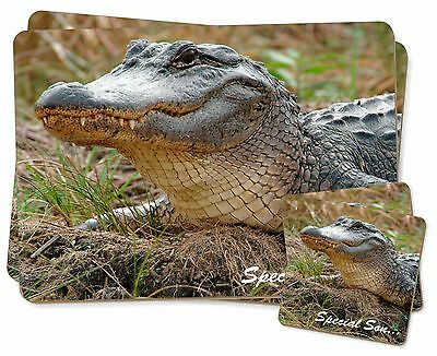 Crocodile 'Special Son' Twin 2x Placemats+2x Coasters Set in Gift Box, SS-CR1PC