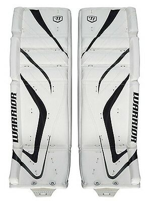 "New Warrior Messiah Pro goalie leg pads white/black 34""+2 ice hockey senior goal"