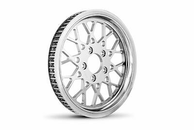 "DNA Chrome 1 1/8"" 70 Tooth Rear Mesh Pulley Harley Chopper Bobber Custom FXST"