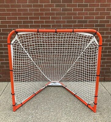 New Gait 4' x 4' box indoor lacrosse replacement 5mm mesh net goal feet Debeer
