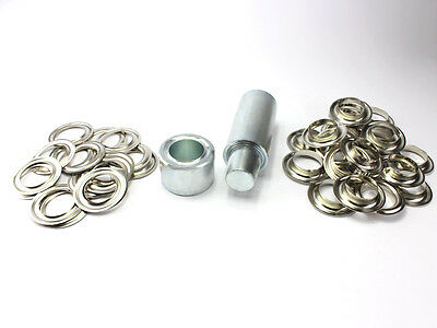 Poinçon XXL 40 mm 50 Oeillets Laiton Nickel Inoxydable