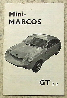 MINI MARCOS GT 2+2 Car Illustrated Performance Parts Catalogue c1969?
