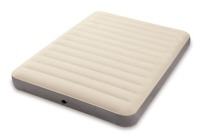 Intex Queen Dura-Beam Inflatable Single High Airbed Home Camping Mattress