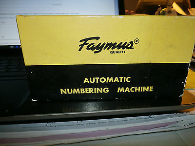Vintage Faymus Automatic Numbering Machine Model A Japan Boxed Used