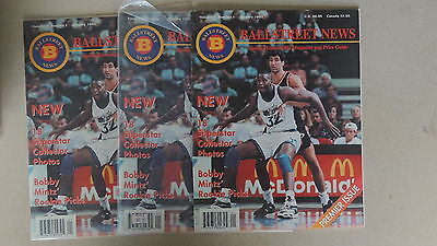 Ballstreet News First Issue Lot Of 3 With 18 Cards Hofers Only 25,000 Made 1993