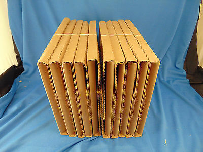 Lot of 10 shipping box book comics magazines letter papers set mailers storage