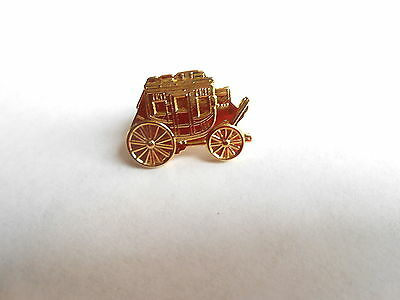 Great Vintage Detailed Stagecoach Western American Small Pin Pinback Brooch