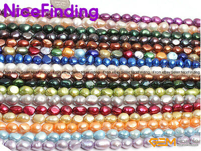 """Wholesale Freshwater Pearl Loose Beads For Jewellery Making 15""""DIY Free Shipping"""