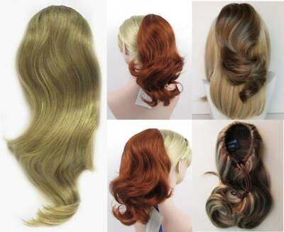 "14"" Loose Waves Wavy Hair Ponytail Hairpiece W/ Drawstring Pageant Bun Shay 1635"