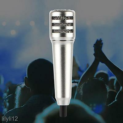 Portable Mini Microphone Stereo Condenser Mic For IOS Android Smartphone Laptop