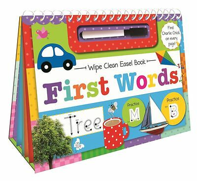 First Words Wipe Clean Easel Book with Pen