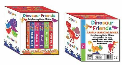 Look & Learn Dinosaur Friends 6 Early Learning Books Boxed Set Gift Set