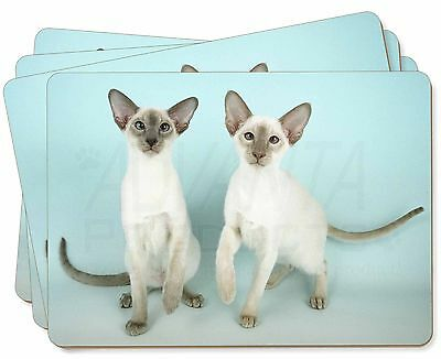 Two Siamese Cats Picture Placemats in Gift Box, AC-22P