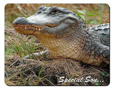 Crocodile 'Special Son' Computer Mouse Mat Christmas Gift Idea, SS-CR1M
