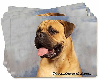 Bullmastiff Dog-With Love Picture Placemats in Gift Box, AD-BMT1uP