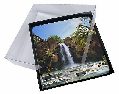 4x Waterfall Picture Table Coasters Set in Gift Box, W-1C