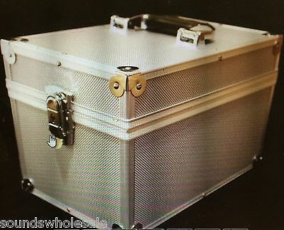 "Dj 7"" Record Box / Flight Case Holds 100 Vinyl - Silver +24Hdel"