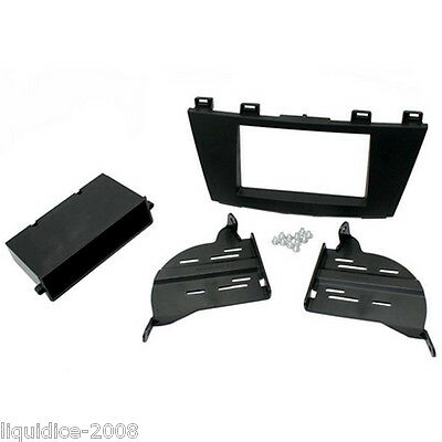 CT24MZ09 MAZDA CX-7 2009 to 2012 BLACK SINGLE OR DOUBLE DIN FASCIA ADAPTER
