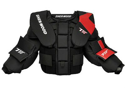 New Sherwood T90 goalie chest protector size JR Large junior arm ice hockey boys