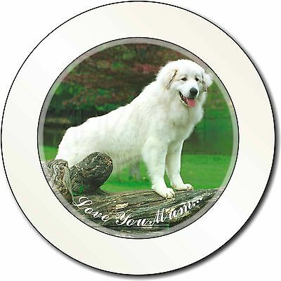 Pyrenean Mountain Dog 'Love You Mum' Car/Van Permit Holder/Tax Disc , AD-PM1lymT