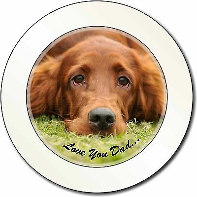 Red Setter Dpg 'Love You Dad' Car/Van Permit Holder/Tax Disc Gift, DAD-93T
