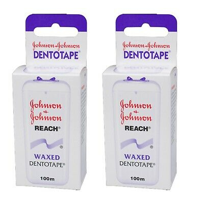 Johnson & Johnson Reach Dentotape gewachst 100m, 2er Pack (2x 100m)
