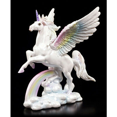 Small Size Flying Unicorn Figurine Mystical Figure Display Homeware Rainbow