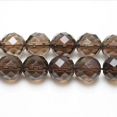Strand Of 62+ Brown Smoky Quartz 6mm Faceted Round Beads GS3948-2