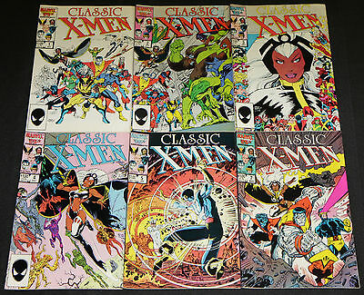Vintage Marvel Copper Age CLASSIC X-MEN 6pc Count Comic Lot FN-VF Wolverine